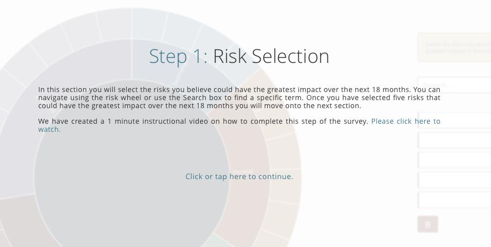 Risk insights Explorer - Risk Selection.