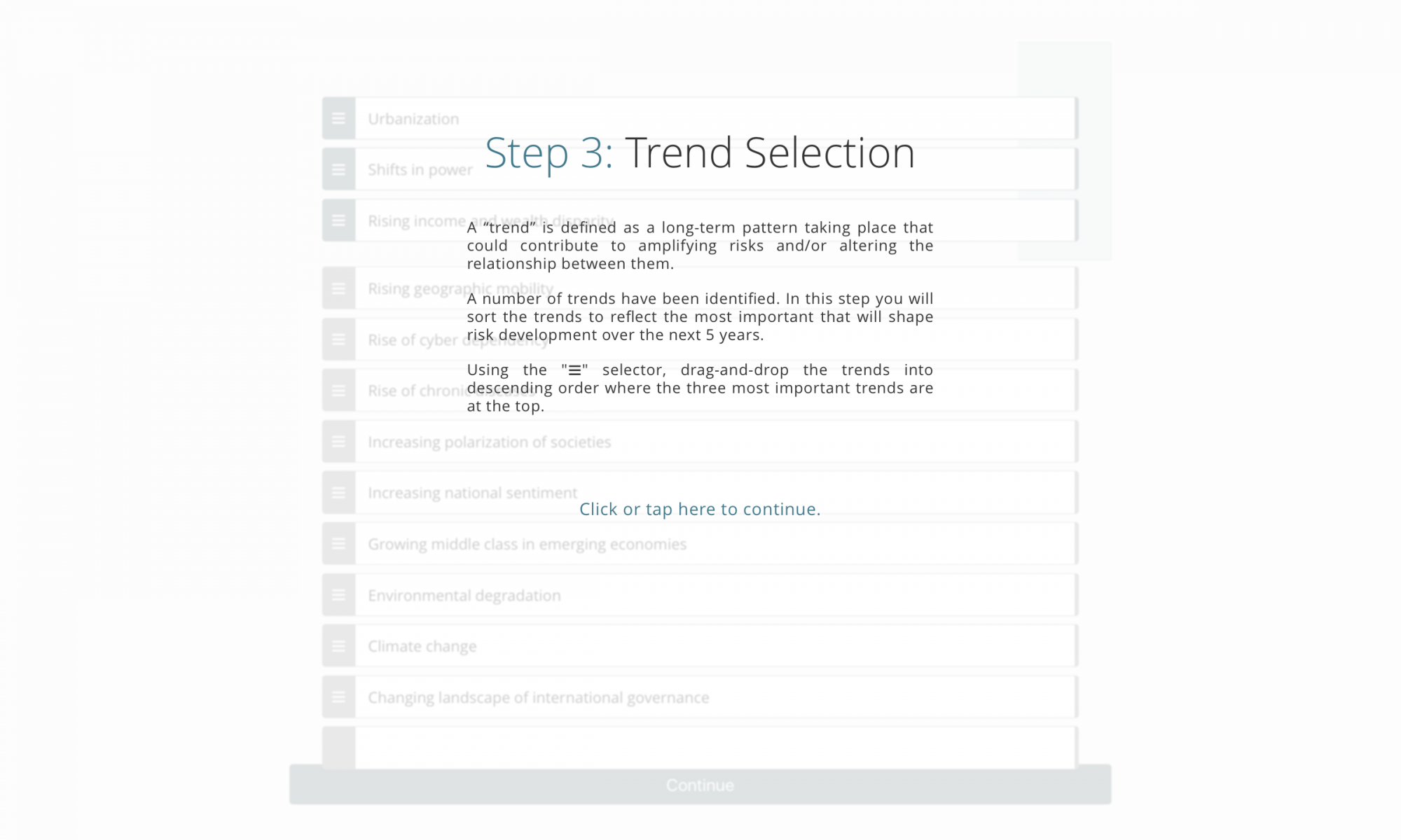 Step 3 - Trend Selection