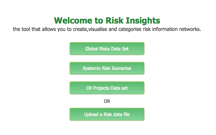 Risk Insights Explorer Home Page